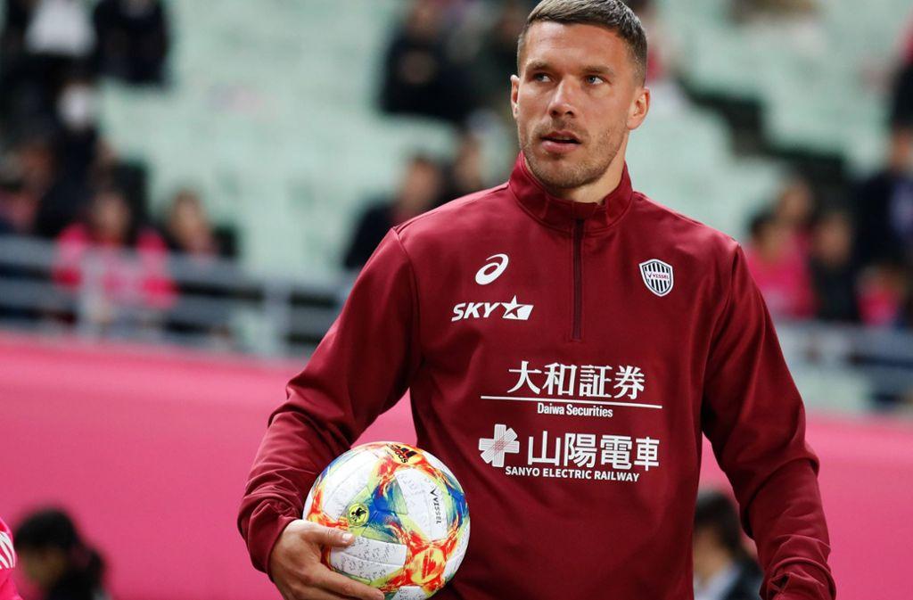 Fußballer Lukas Podolski trauert um seine Großmutter. Foto: imago images/AFLOSPORT/Naoki Morita
