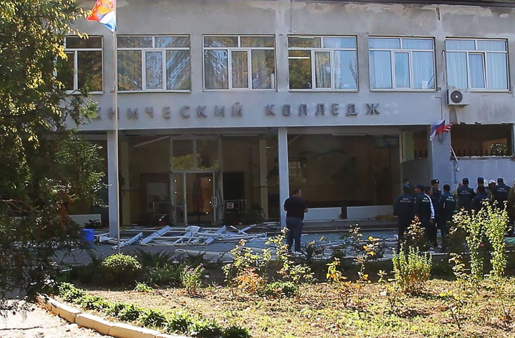 Anschlag auf eine Berufsschule auf der Halbinsel Krim. Foto: TASS