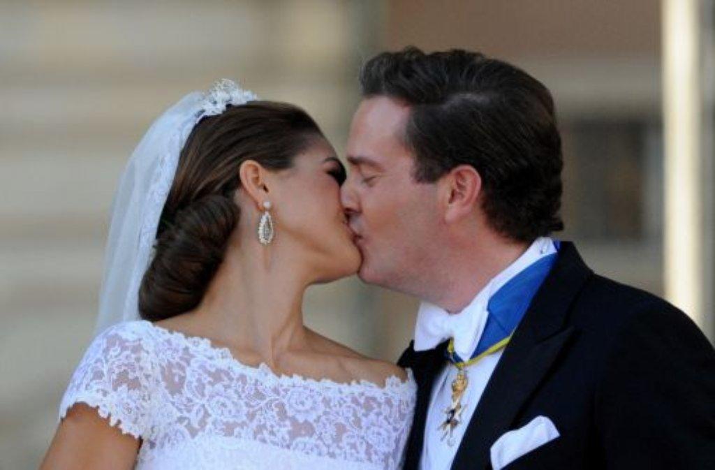 Prinzessin Madeleine und Christopher ONeill haben sich das Jawort gegeben. Foto: dpa