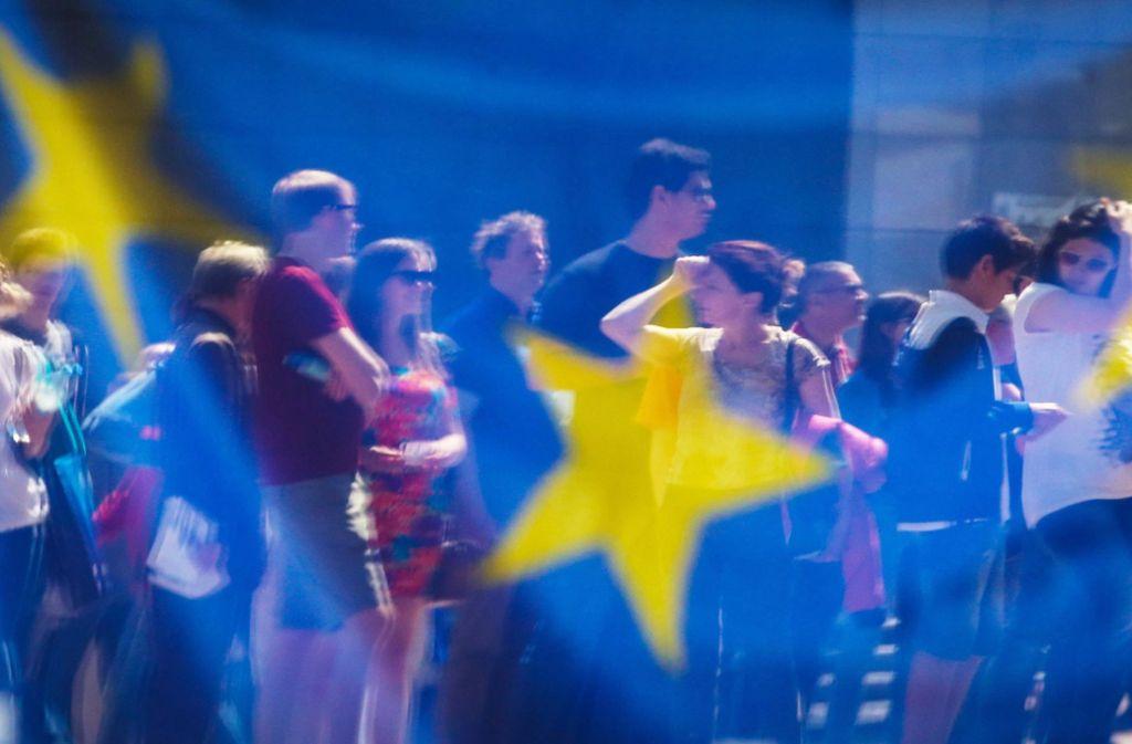 Die Einwohner der EU waren dazu aufgerufen, ein neues Parlament zu wählen. Foto: dpa