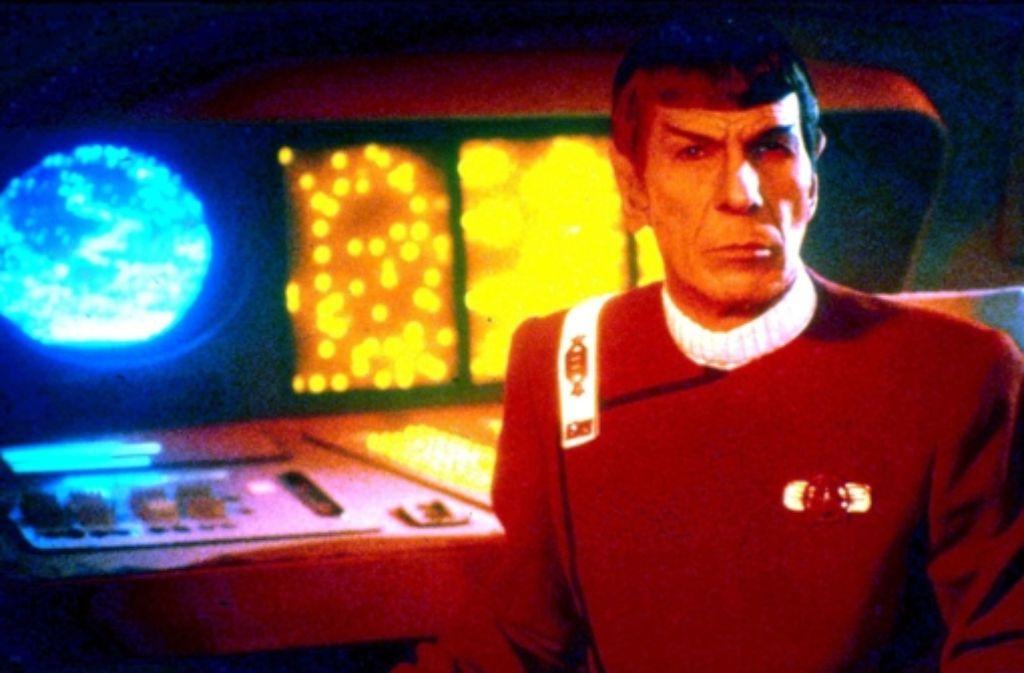 Mr. Spock, inzwischen vom Wissenschaftsoffizier zum Captain befördert, im zweiten Star-Trek-Film aus dem Jahr 1982 Foto: Sat.1