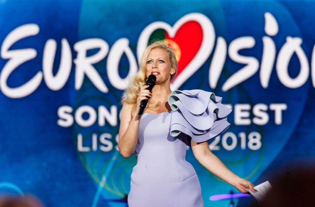 Barbara Schöneberger wird wieder den diesjährigen Vorentscheid zum ESC moderieren. Foto: dpa