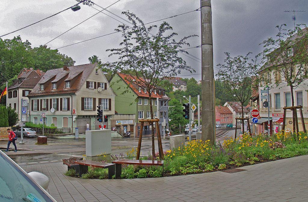 Die Umleitung führt am Dreiecksplätzle vorbei und dann weiter über die Ruggerstraße. Foto: Archiv Rüdiger Ott