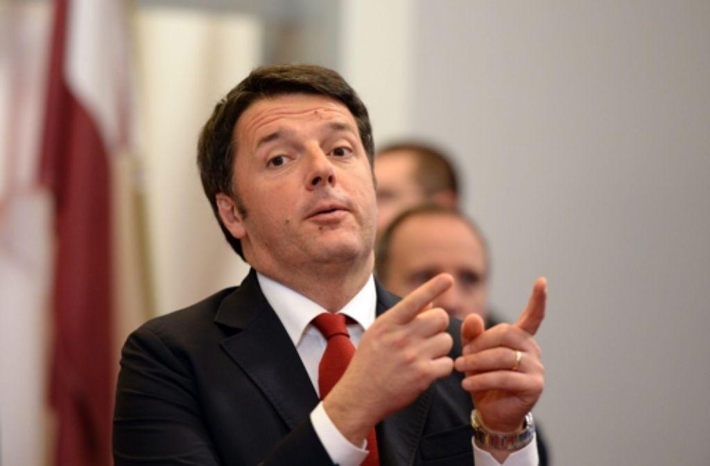 Nach Ansicht des  italienischen Regierungschefs Matteo Renzi ist es an der Zeit, die Sanktionen gegen Russland auslaufen zu lassen. Foto: AFP