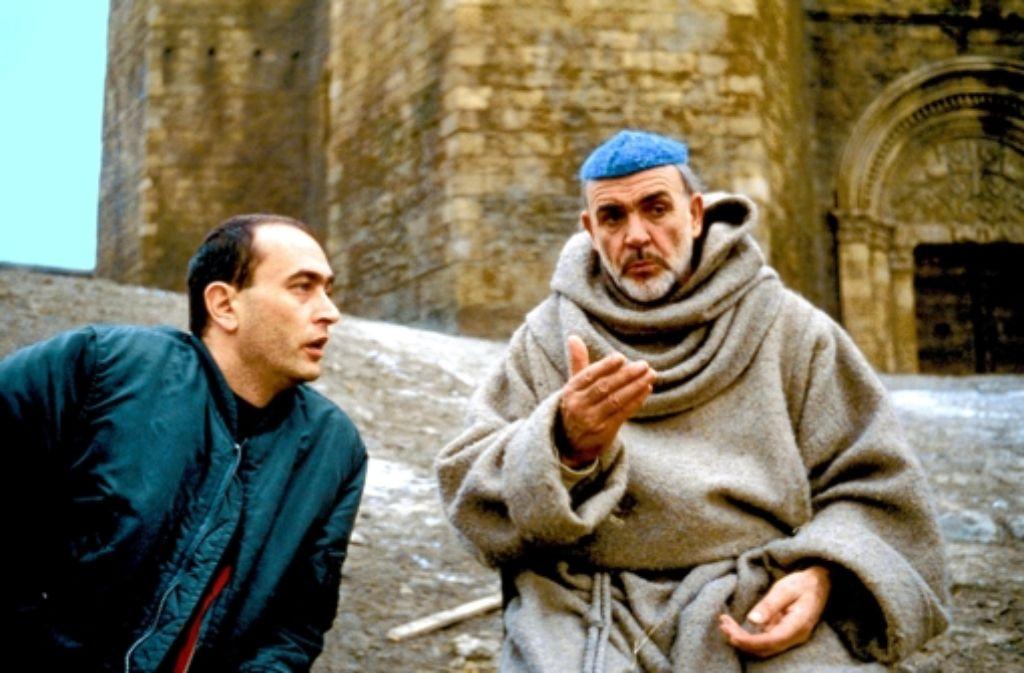 """Bernd Eichinger 1986 mit Sean Connery bei der Entstehung des Films """"Der Name der Rose"""" Foto: Constantin Film"""