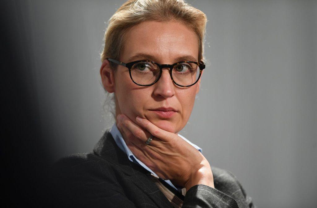 Die AfD-Fraktionschefin im Bundestag, Alice Weidel, muss sich am Freitag erklären. Foto: dpa