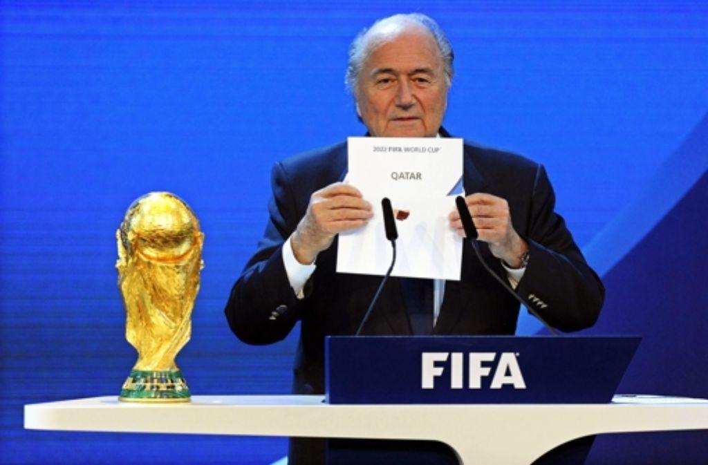 Fifa-Präsident Sepp Blatter Foto: dpa