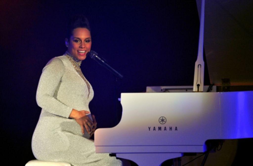 Alicia Keys ist hochwanger - ihr Auftritt bei den MTV European Music Awards war ihr vorerst letzter. Foto: Getty Images Europe