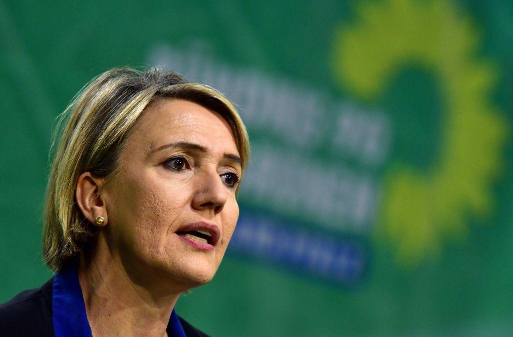 Die grüne Parteichefin Simone Peter       eckt immer wieder mit ihren öffentlichen Äußerungen an. Foto: dpa
