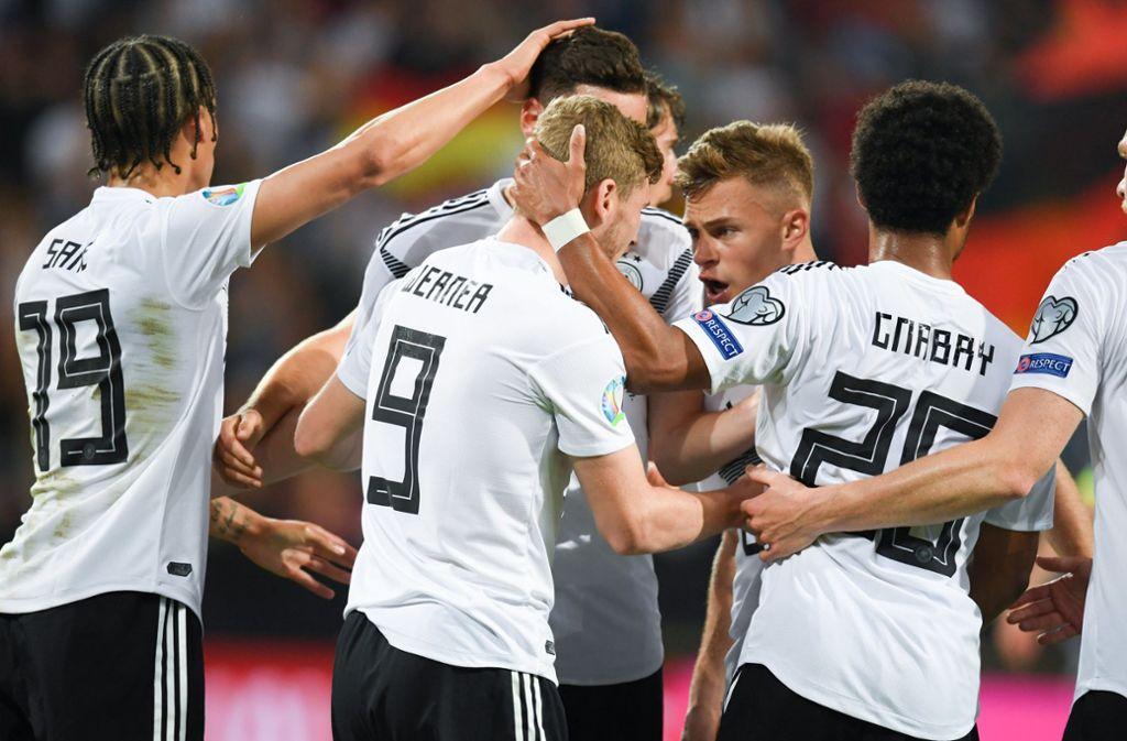 Das DFB-Team feierte gegen Estland den höchsten deutschen Sieg seit November 2016. Wir haben die Spieler in unserer Einzelkritik. Foto: dpa