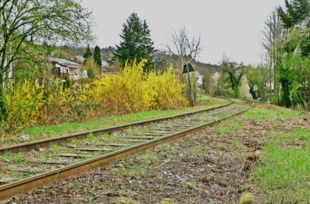 Ein Gleis mit wechselvoller Geschichte: die WEG-Trasse Foto: factum/Bach