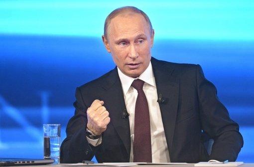 Putin lässt die Muskeln spielen