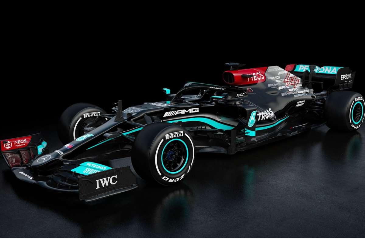 Mit dem  neuen Mercedes AMG W12 E Performance will Lewis Hamilton zu seinem achten WM-Titel in der Formel 1 fahren. Foto: Daimler AG