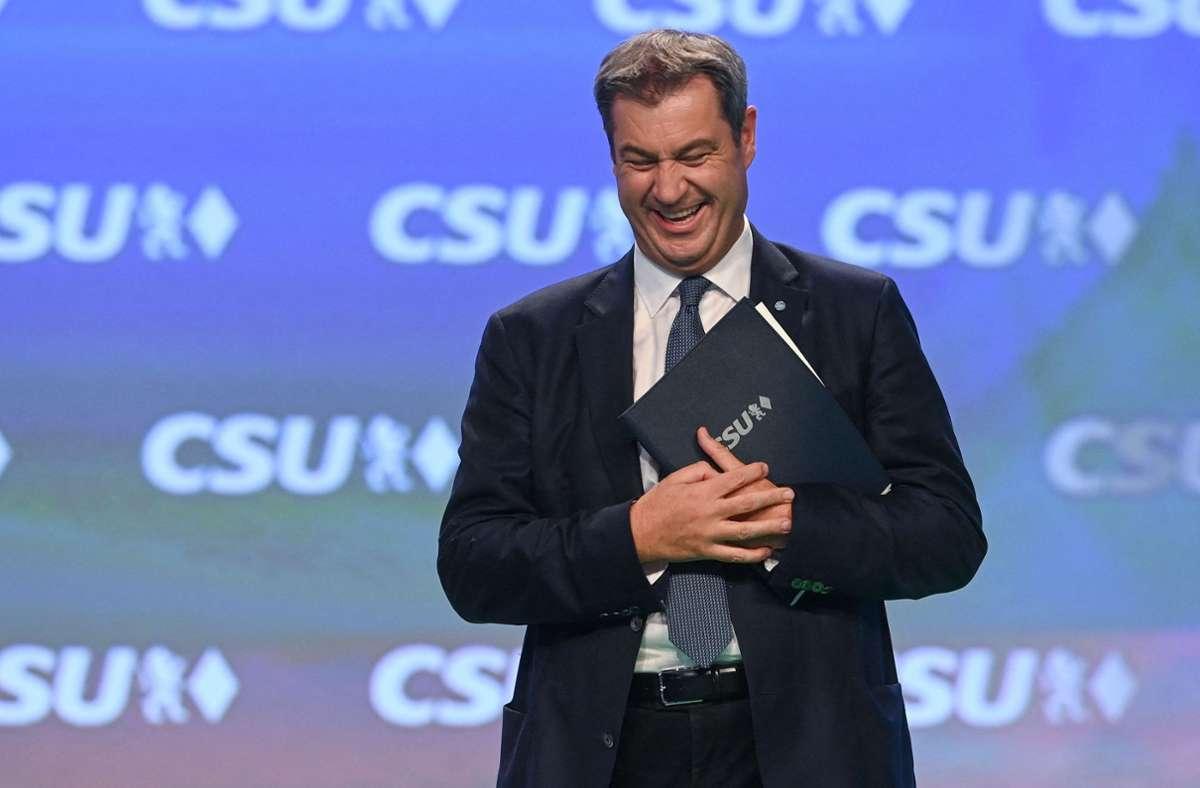 CSU-Mann Markus Söder wurde in seinem Amt als Parteichef bestätigt. Foto: AFP/CHRISTOF STACHE