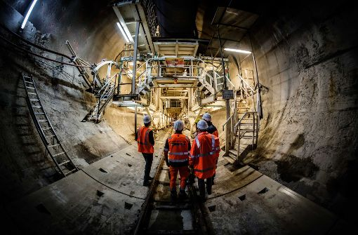 60 Prozent der S21-Tunnel vorgetrieben