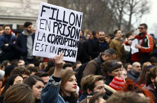 Demonstrationen gegen Korruption