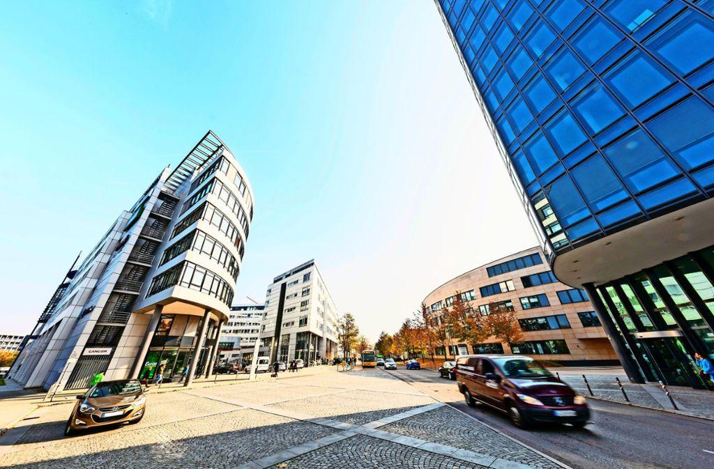Im Synergiepark sieht die Stadt weiteres Potenzial für Gewerbeansiedlungen. Foto: Th. Krämer