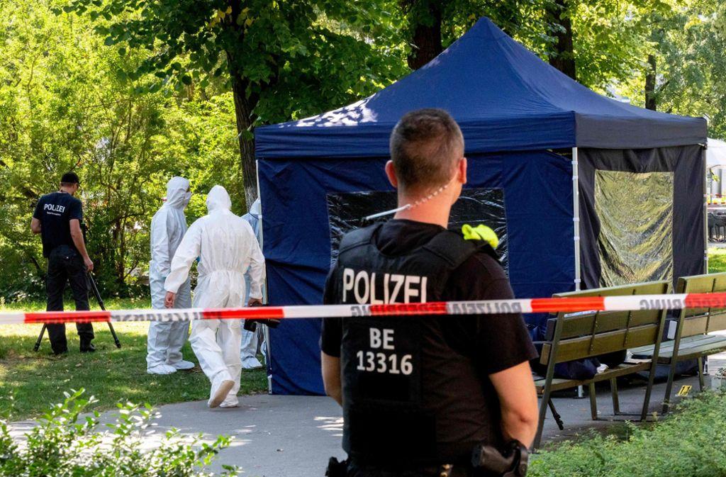 Berliner Tatort: Zelimkhan K. wurde im Kleinen Tiergarten erschossen. Foto: AFP/Christoph Soeder