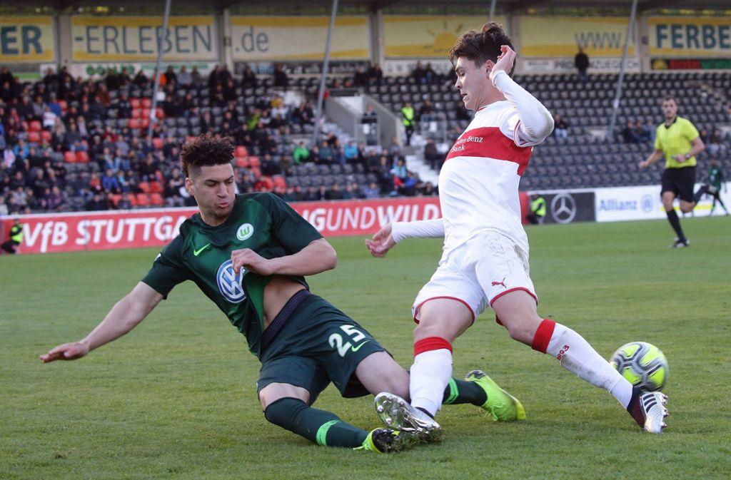 In der ersten Hälfte zeigte der VfB eine bessere Vorstellung, ... Foto: Pressefoto Baumann