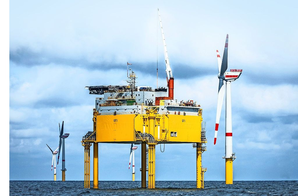 An Umspannstationen wie dieser in der Nordsee sind häufig etliche Windkraftanlagen angeschlossen. Foto: Global Tech I Offshore Wind GmbH