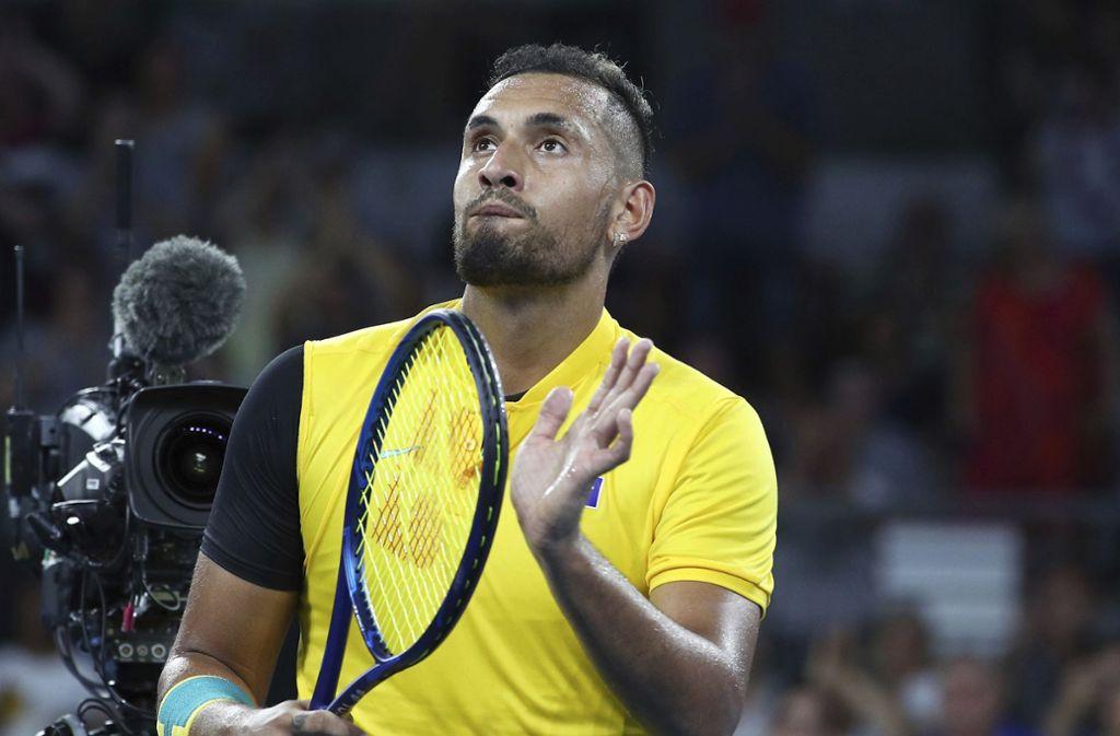 Nick Kyrgios ist derzeit beim ATP-Cup in Australien im Einsatz. Foto: AP/Tertius Pickard