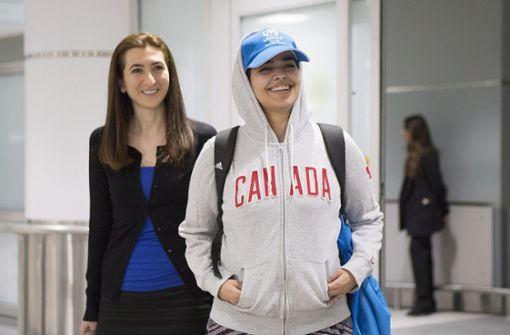 Saudi-Araberin im Asyl in Kanada angekommen