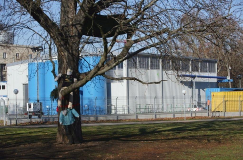 Die Gebäude für das Grundwassermanagements an der Südseite des Hauptbahnhofs. Foto: Achim Zweygarth