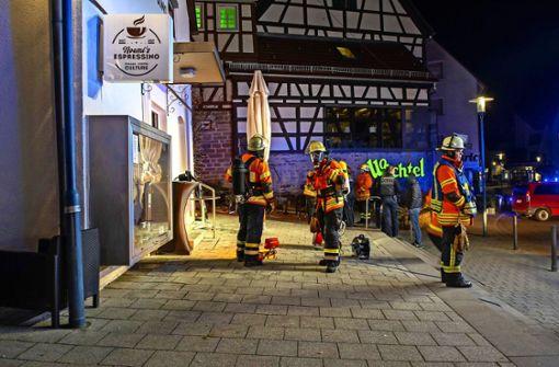 Brandanschlag auf Café in der Innenstadt