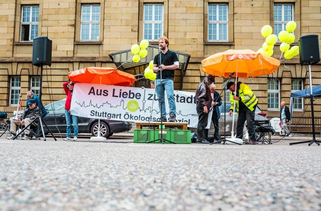 Hannes Rockenbauch ist das Gesicht der Fraktionsgemeinschaft SÖS/Linke-plus. Foto: Lichtgut/Julian Rettig