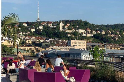 Ein   Ersatz fürs  Volksfest über den Dächern Stuttgarts