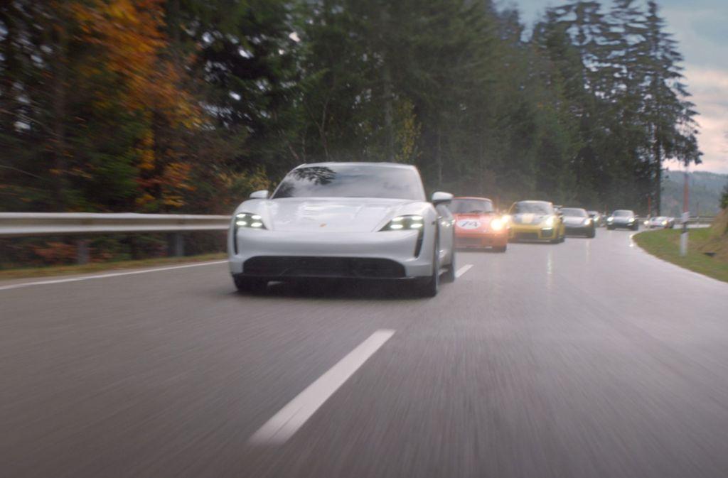 """Ausschnitt aus dem Clip """"The Heist"""" von Posche Foto: Porsche"""