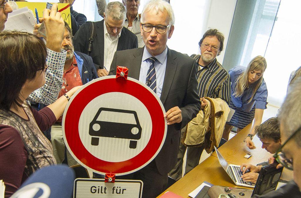 Will alle Diesel aus der Stadt halten: Jürgen Resch, Chef der Deutschen Umwelthilfe. Foto: Lichtgut/Leif Piechowski