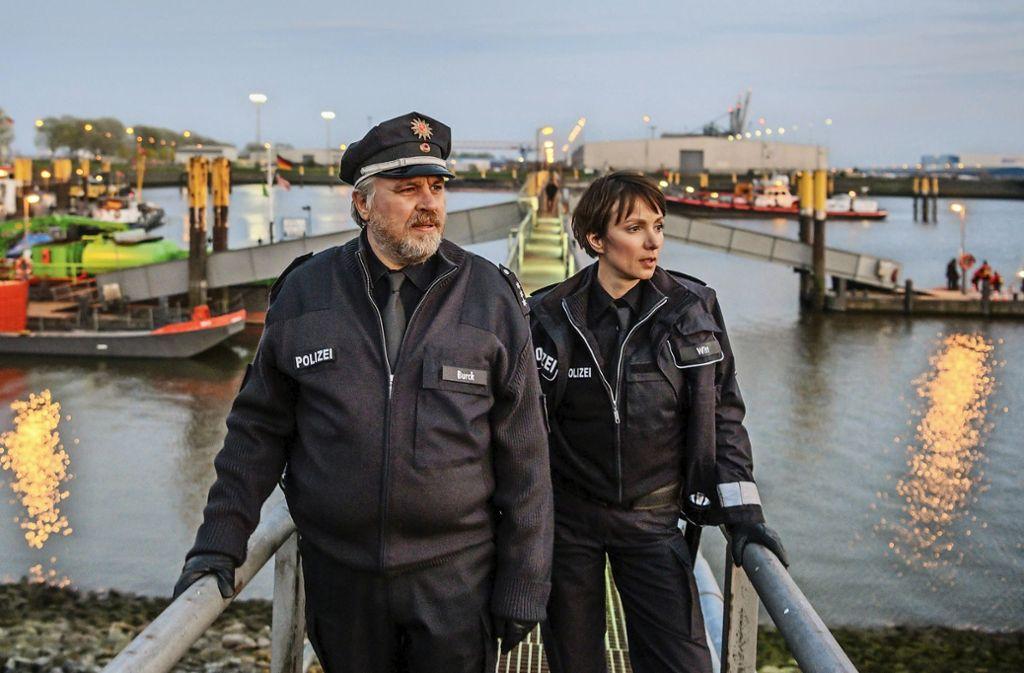 Auf Streife in Bremen: Maja Witt (Julia Koschitz), Klaus Burck (Aljoscha Stadelmann) Foto: ZDF/Michael Ihle
