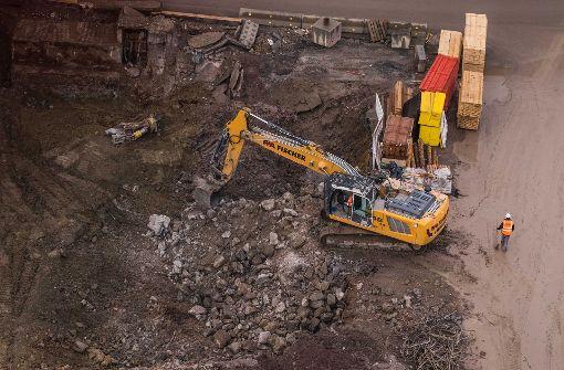 Beim Graben ausgebremst