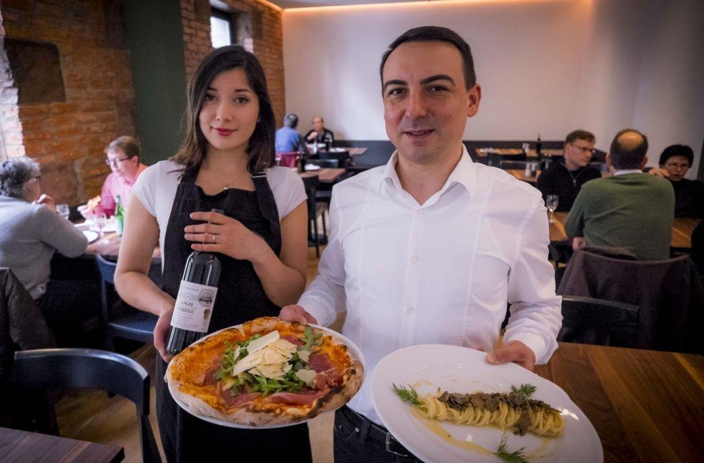 Pizza und Pasta für Feinschmecker: Die Trattoria Piloni (Bild) in S-West hat es in die zweite Auflage unseres Gastroführer 10 x 10 geschafft. Foto: Lichtgut/Max Kovalenko