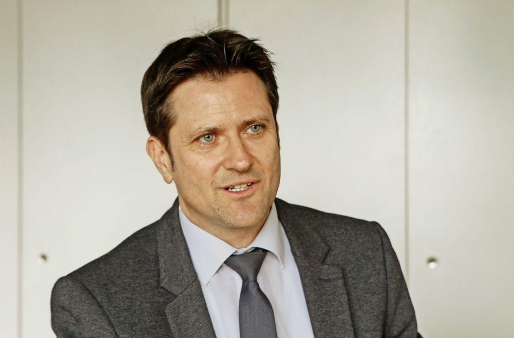 Dirk Schaible ist der alte und neue Bürgermeister von Freiberg am Neckar. Foto: factum/Bach