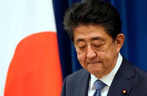 Japans Regierungschef Shinzo Abe kündigt Rücktritt an