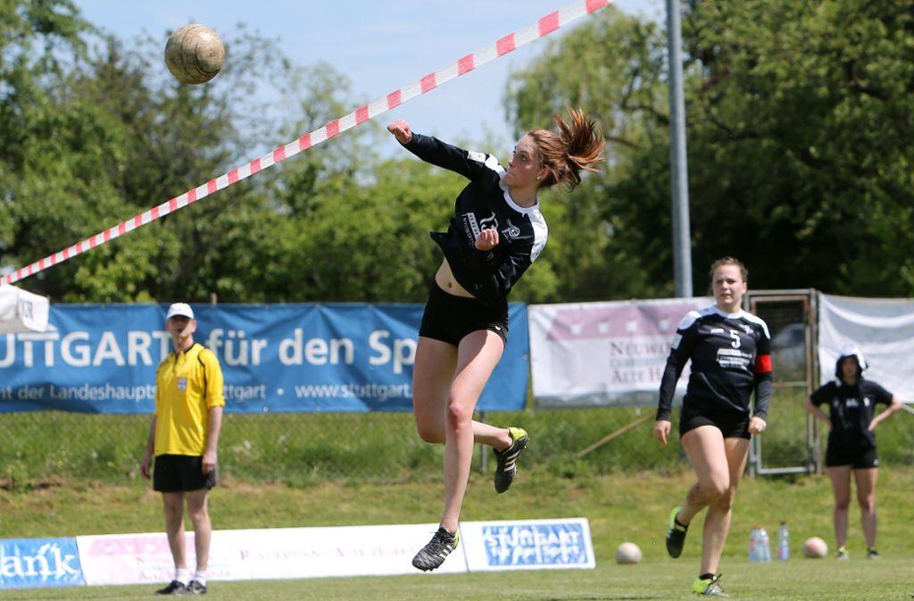 Melanie Israel gehört zum Bundesligakader des TV Stammeheim in der laufenden Spielzeit. Foto: Pressefoto Baumann