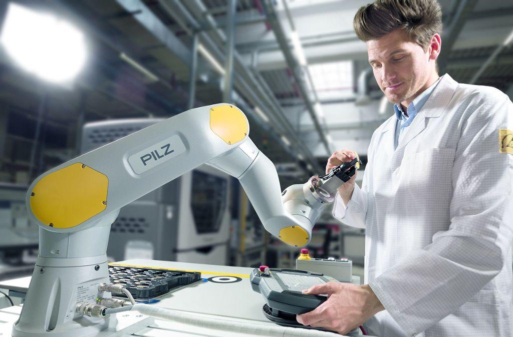 Sensoren verhelfen Robotern bei Pilz Feingefühl. Foto: Pilz