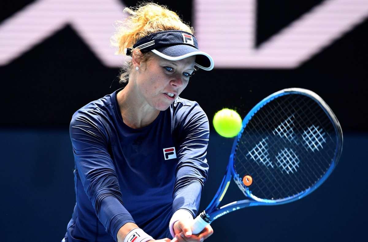 Laura Siegemund ist auch im Doppel-Wettbewerb der Australian Open  ausgeschieden. (Archivbild) Foto: AFP/WILLIAM WEST