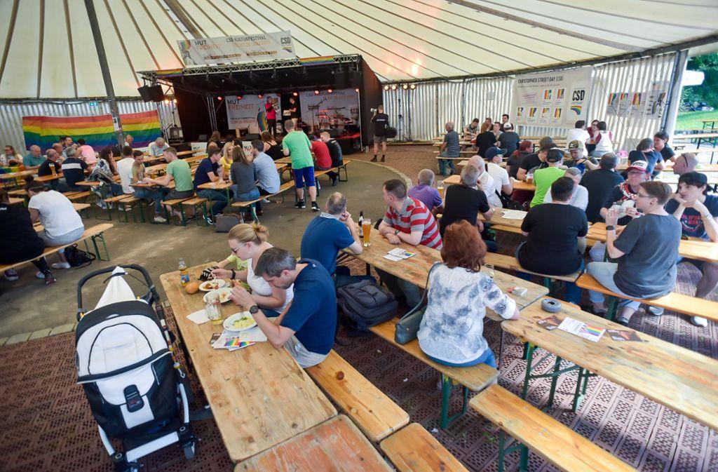 Das CSD-Sommerfest  konnte trotz Bauarbeiten stattfinden. Foto: LICHTGUT-STUTTGAT.DE