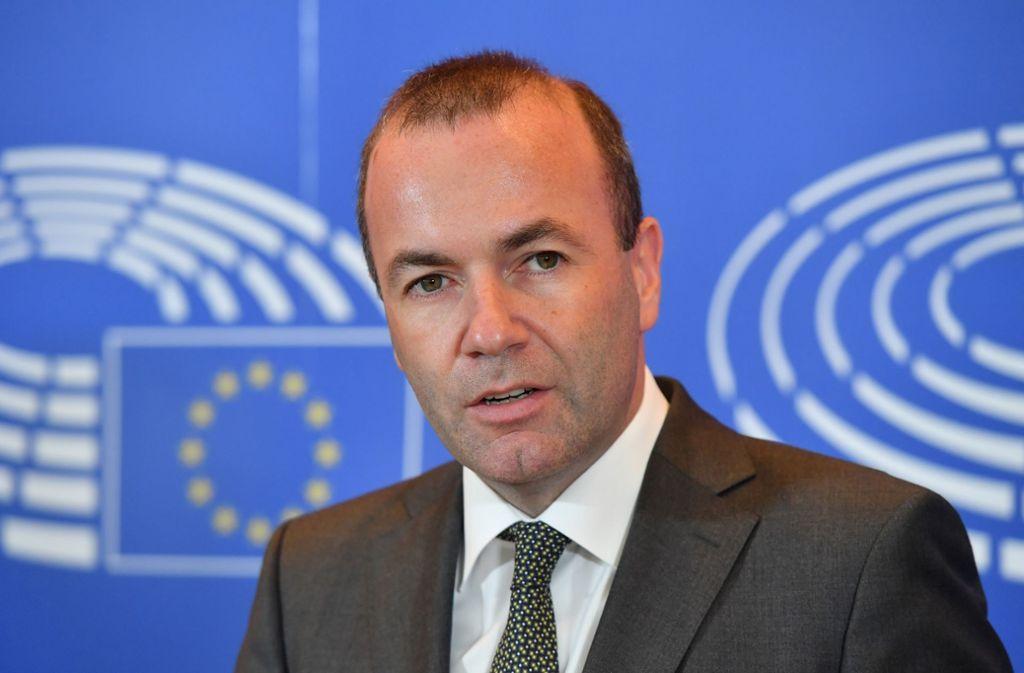 Manfred Weber war Spitzenkandidat der EVP bei der Europawahl – aber bei der Auswahl des EU-Kommissionschefs kam er nicht zum Zuge. Foto: AFP