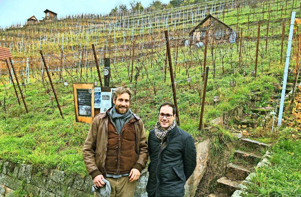 Die Jungunternehmer Dennis Keifer (rechts)  und Sebastian Schiller. Foto: