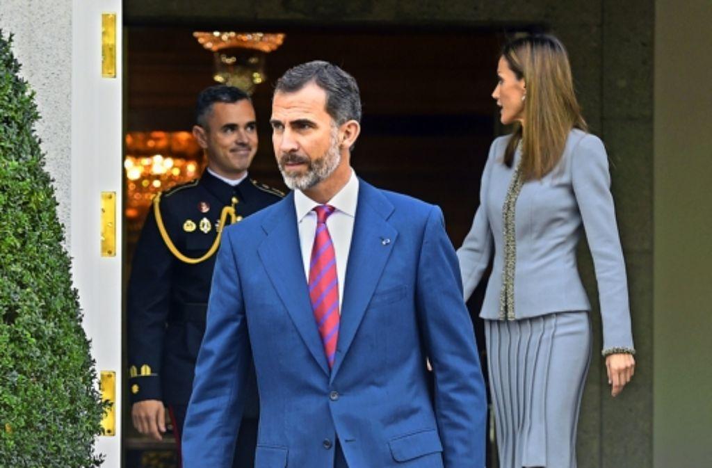 König Felipe hat  in seinem Amt  noch nicht recht Tritt gefasst. Foto: AFP