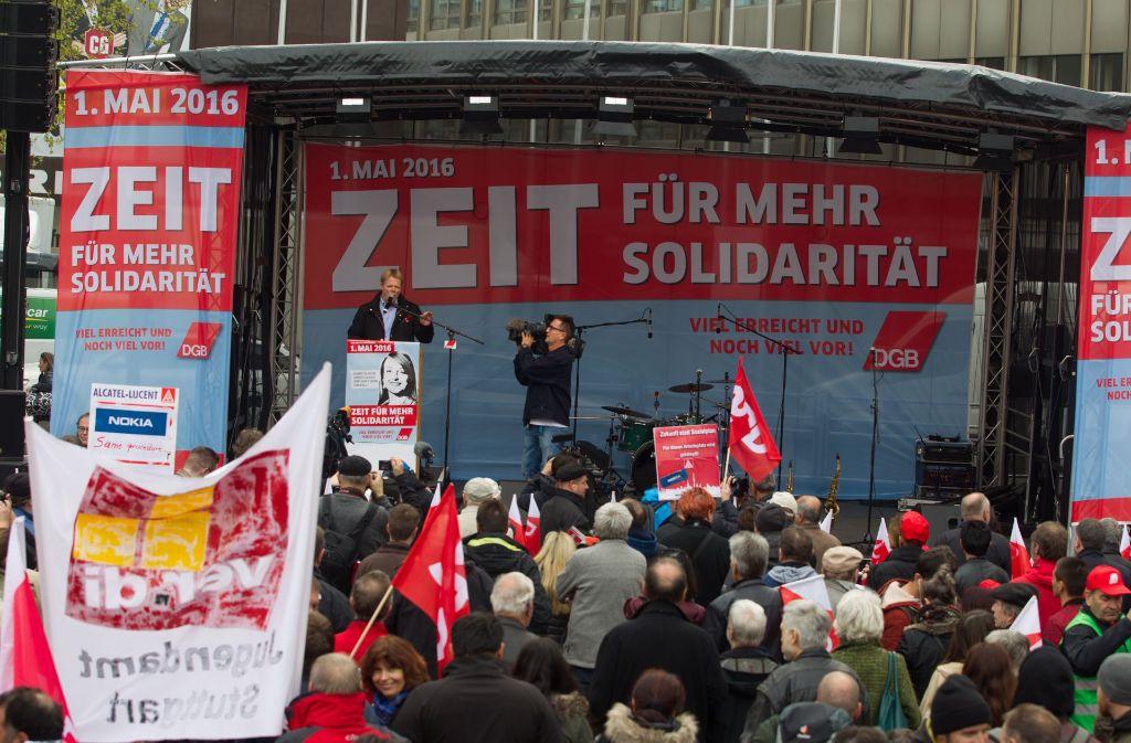 Auch 2016 war für mehr Solidarität demonstriert worden. Foto: Lichtgut Christian Hass