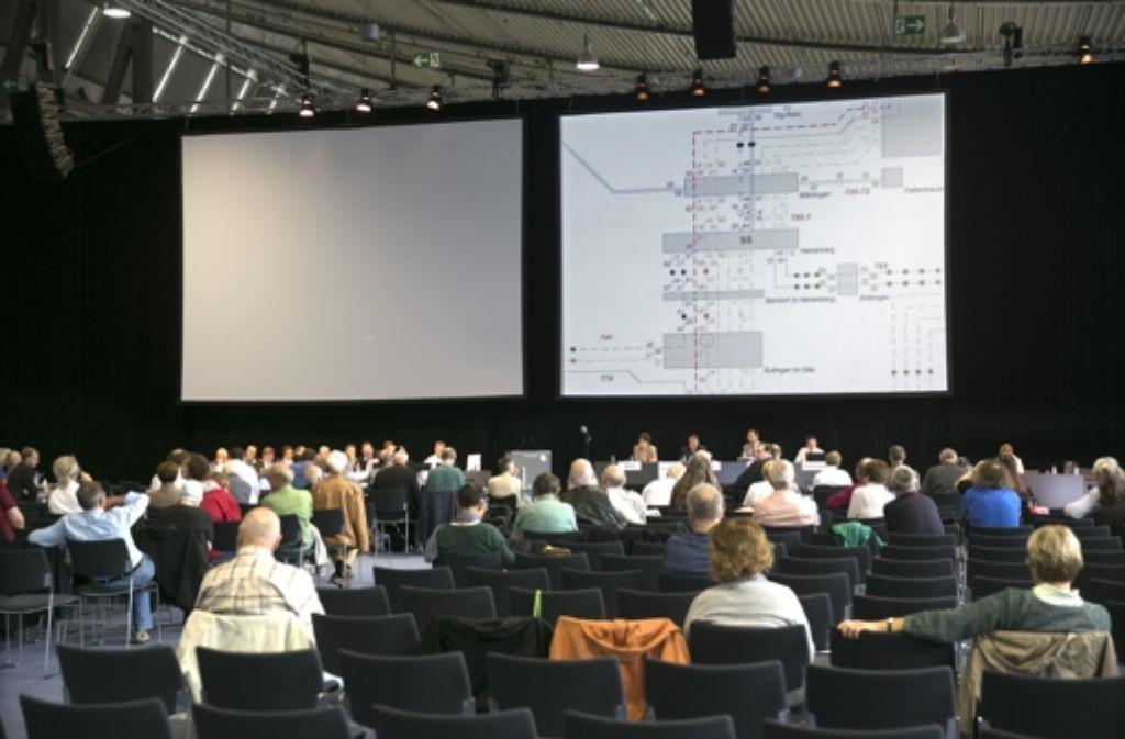 Auf der Messe ist in den vergangenen Tagen die Fildertrasse des Projekts S21 erörtert worden. Foto: Horst Rudel
