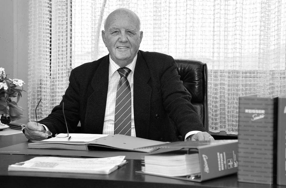 Böblingen verliert einen Unternehmer der alten Schule: Helmut Reißer ist mit 88 Jahren verstorben Foto: Archiv/Thomas Bischof
