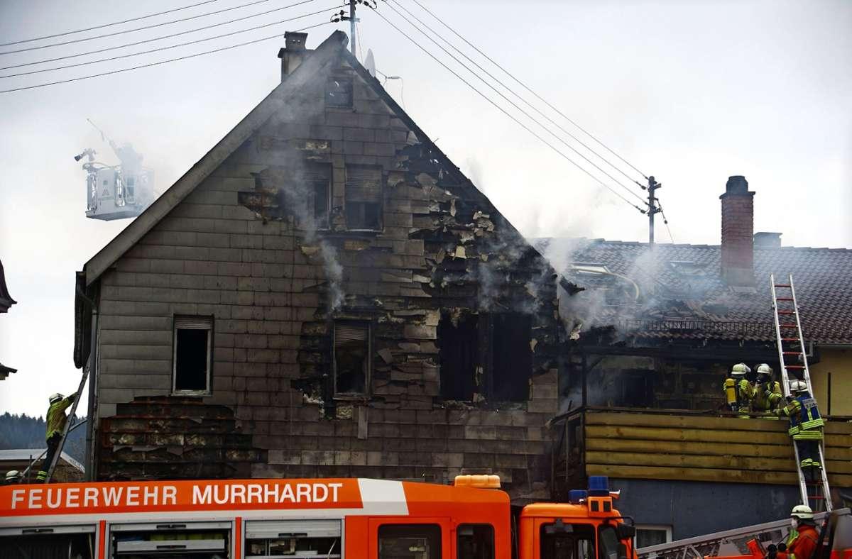 Dieses Haus ist nun möglicherweise einsturzgefährdet.  Foto: SDMG