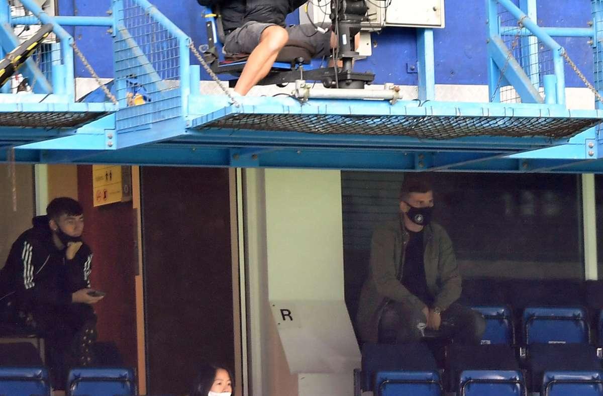 Beim Spiel zwischen dem FC Chelsea und Wolverhampton Wanderers saß Timo Werner auf der Tribüne. Foto: dpa/Mike Hewitt