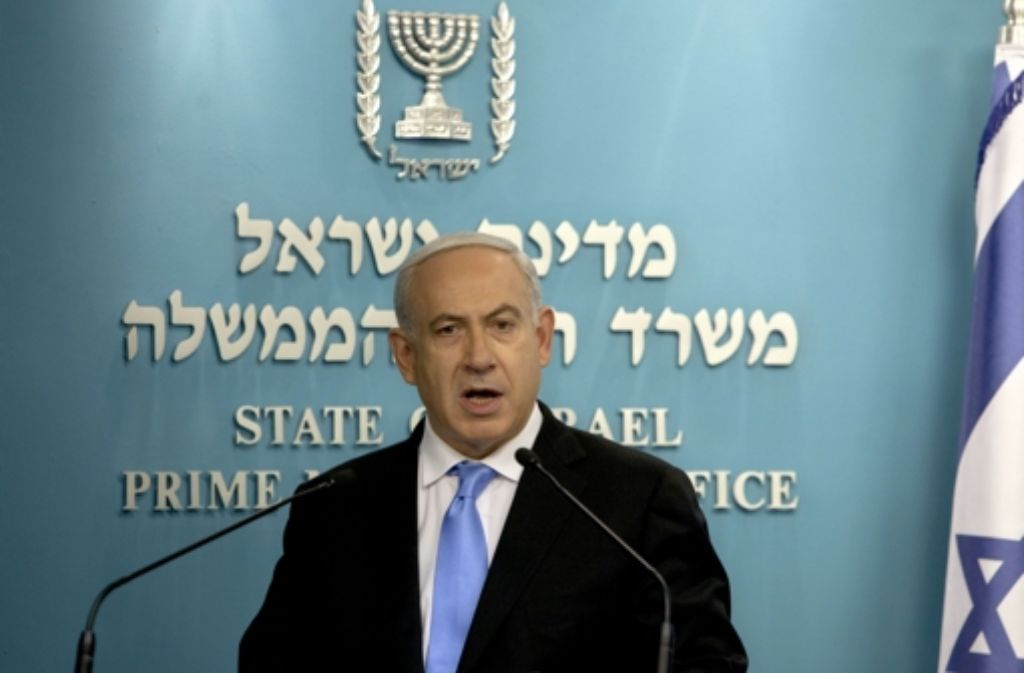 Ministerpräsident Benjamin Netanjahu ermahnt die Bevölkerung, klug zu wählen. Foto: AP